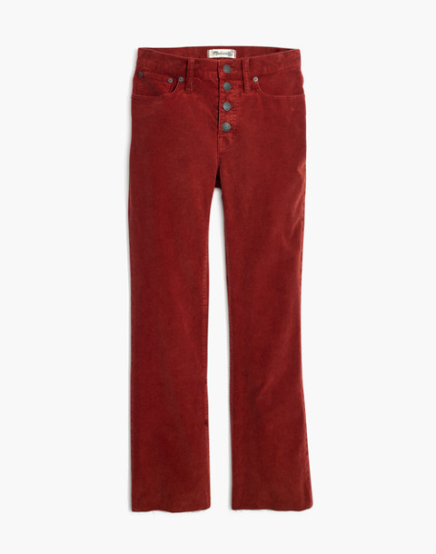 Petite Cali Demi-Boot Jeans: Corduroy Edition in canterbury red image 4