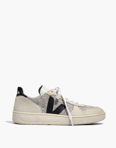 Veja™ V-10 Sneakers in Flannel and Suede in snow black image 3