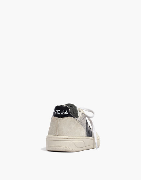 Veja™ V-10 Sneakers in Flannel and Suede in snow black image 4
