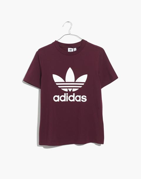 Adidas® Originals Trefoil Tee in burgundy adidas image 4