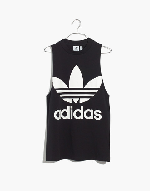 Adidas® Originals Trefoil Tank Top in black adidas image 4