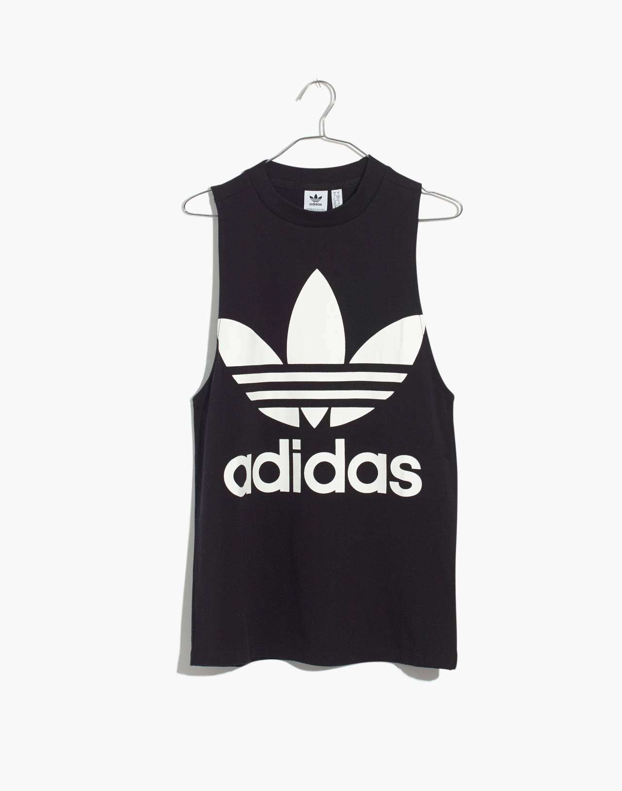Adidas® Originals Trefoil Tank Top in black adidas image 4