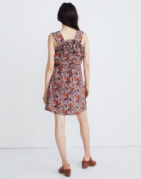 Madewell x Karen Walker® Silk Floral Rosalie Ruffled Dress in upholstery violet tint image 2