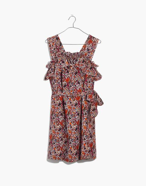 Madewell x Karen Walker® Silk Floral Rosalie Ruffled Dress in upholstery violet tint image 4
