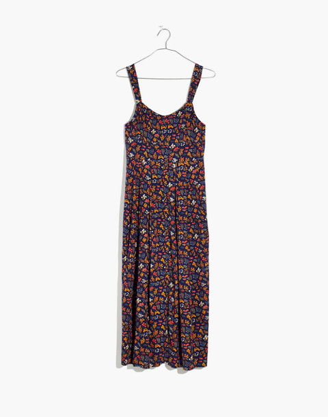 Tie-Strap Midi Dress in Garden Party in liberty blue night image 4