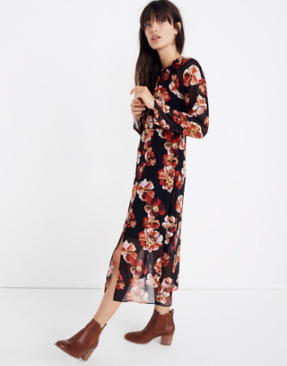Shirred Midi Dress In French Rose by Madewell