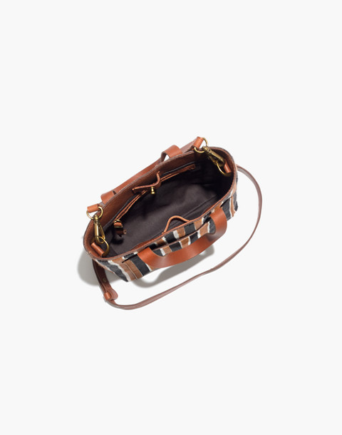 The Small Transport Crossbody in Striped Calf Hair in acorn multi image 3