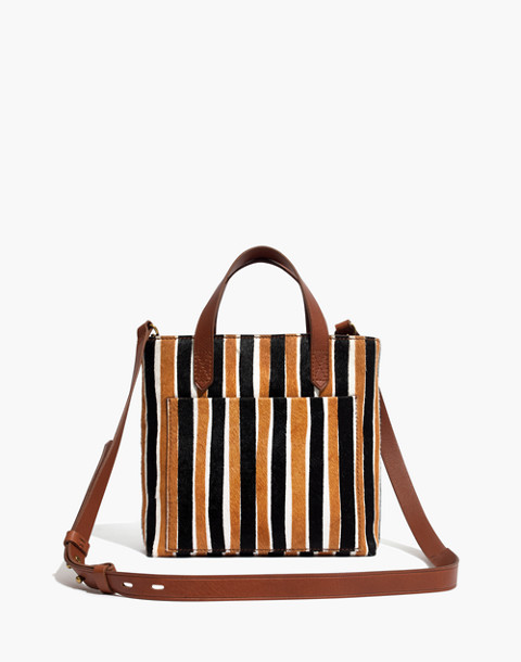 The Small Transport Crossbody in Striped Calf Hair in acorn multi image 1