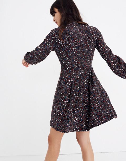Balsam Tie-Neck Dress in Starry Night in starry dark mediterranean image 3
