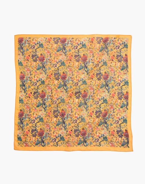Madewell x Karen Walker® Floral Bandana in mystic yellow multi image 2