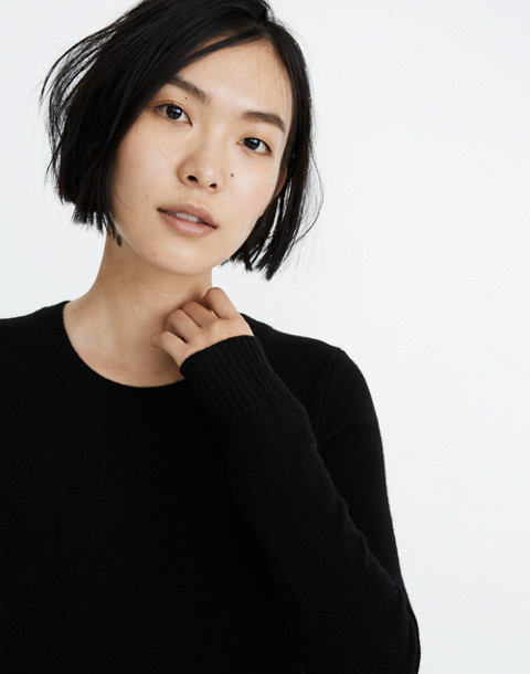 Midi Sweater-Dress in true black image 2