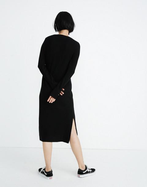 Midi Sweater-Dress in true black image 3