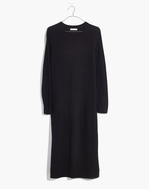 Midi Sweater-Dress in true black image 4