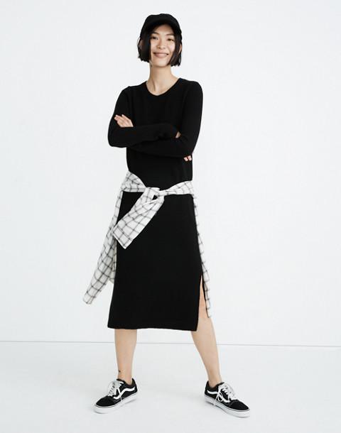 Midi Sweater-Dress in true black image 1