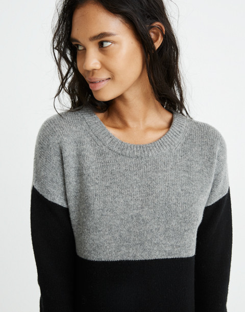 Colorblock Sweater-Dress in heather grey image 2