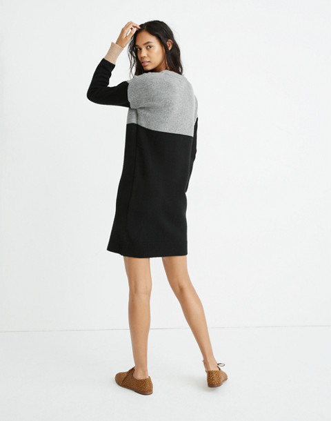 Colorblock Sweater-Dress in heather grey image 3