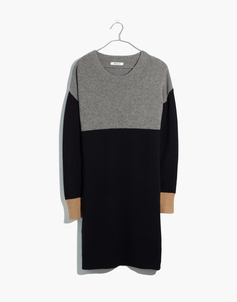 Colorblock Sweater-Dress in heather grey image 4