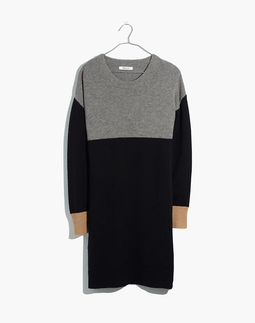 Colorblock Sweater Dress in heather grey image 5