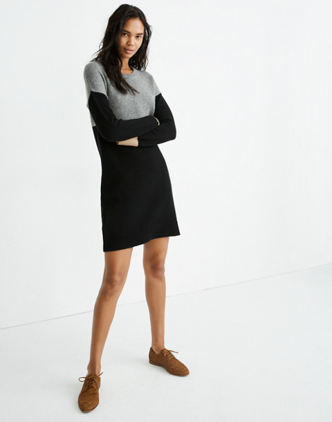 Colorblock Sweater-Dress in heather grey image 1