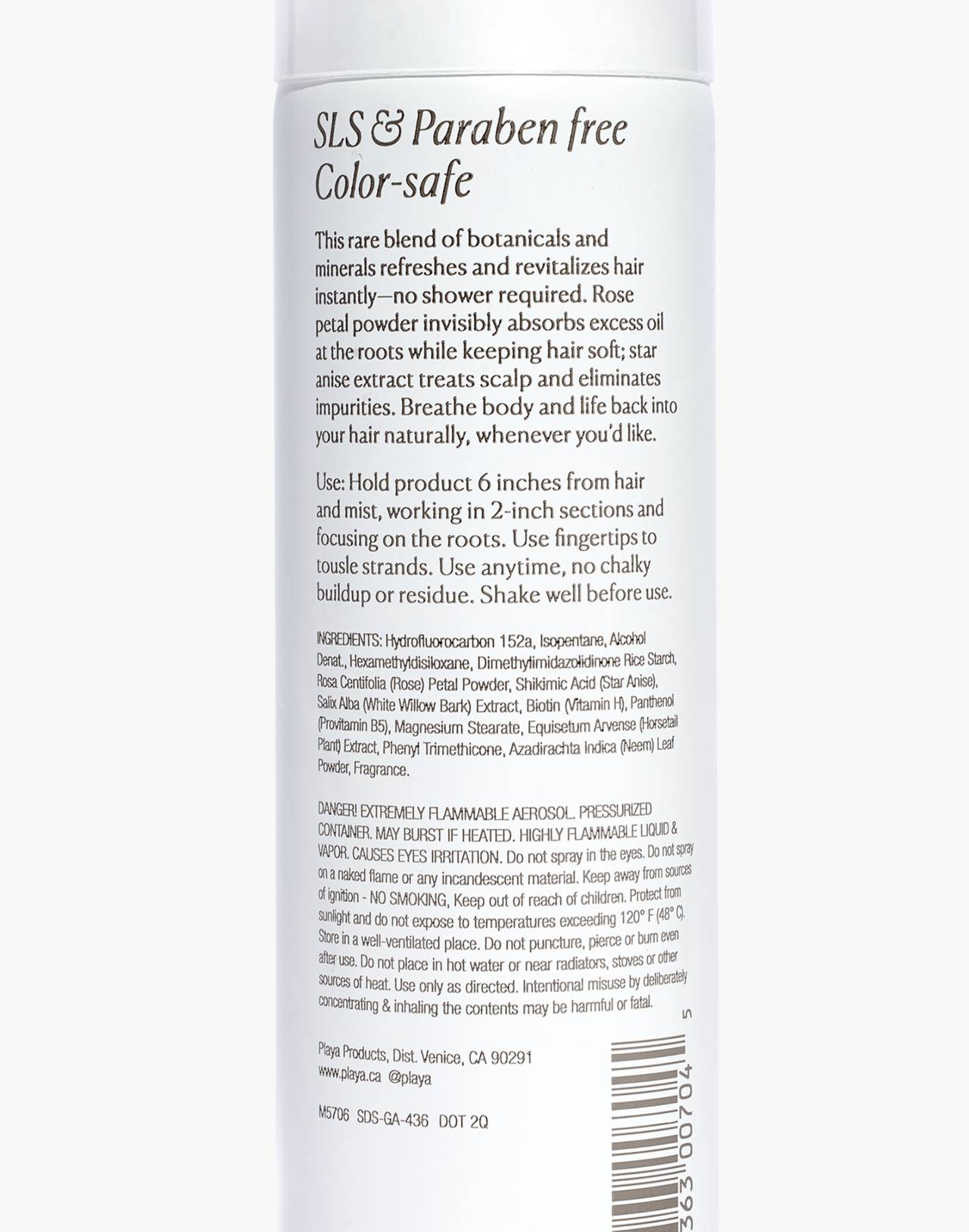 Playa Pure Dry Shampoo in rose petal and star anise image 2