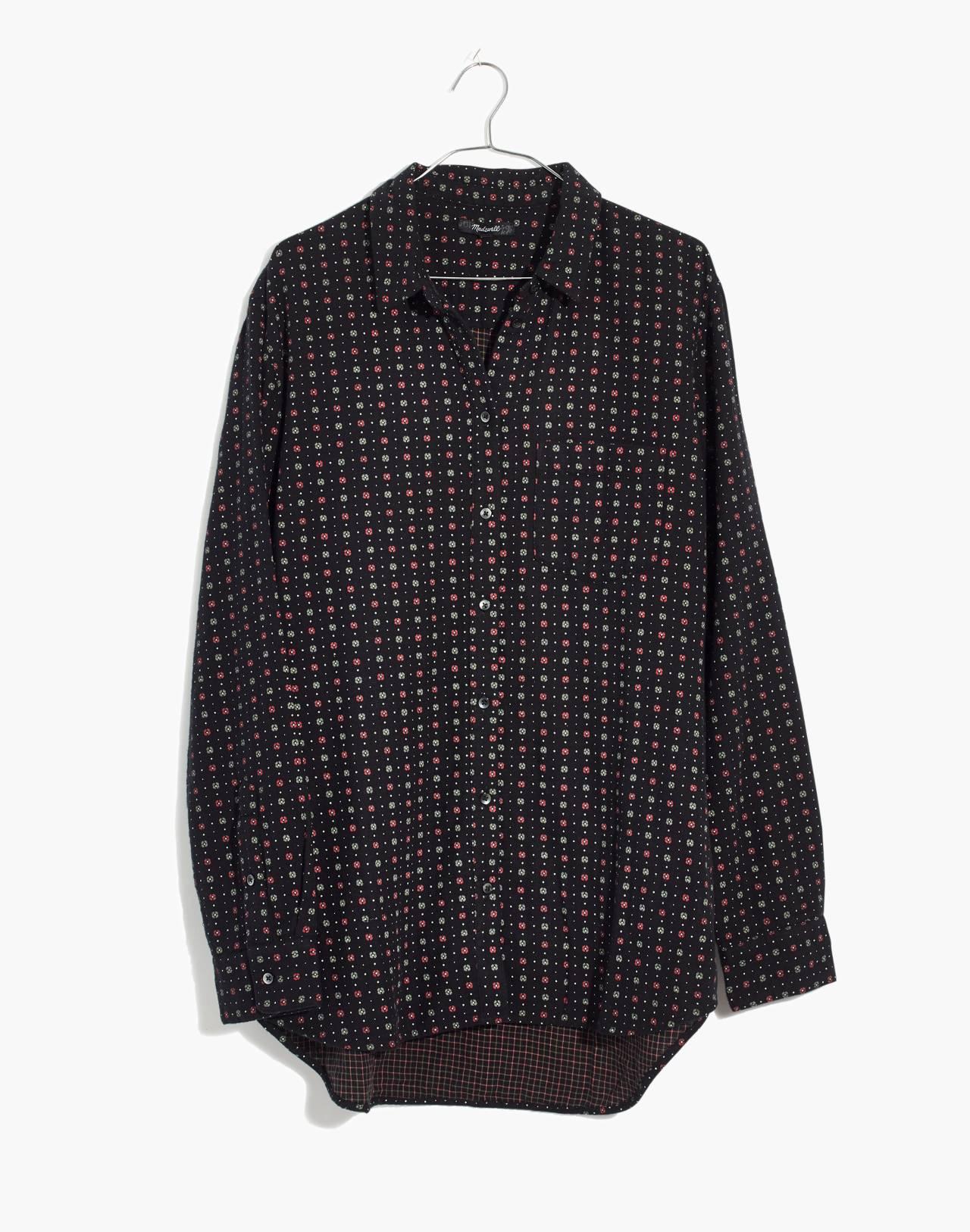 Oversized Ex-Boyfriend Shirt in Mayfair Foulard in foulard dried coral image 4