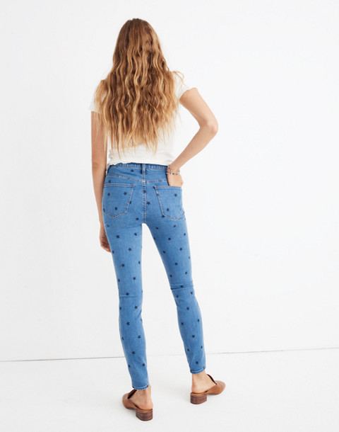 "10"" High-Rise Skinny Jeans in Starry Night in glidden wash image 3"