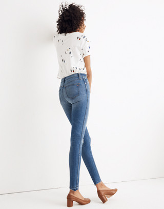 "10"" High-Rise Skinny Jeans: Drop Step-Hem Edition in everton image 3"