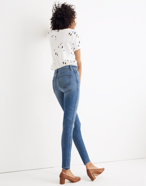 "Petite 10"" High-Rise Skinny Jeans: Drop Step-Hem Edition in everton image 3"