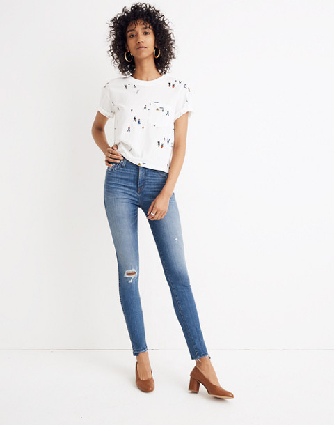 "Petite 10"" High-Rise Skinny Jeans: Drop Step-Hem Edition in everton image 1"