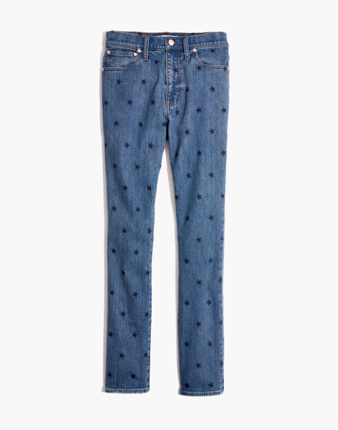 The High-Rise Slim Boyjean in Starry Night in dark tinted image 4