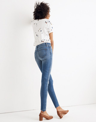"Tall 10"" High-Rise Skinny Jeans: Drop Step-Hem Edition"