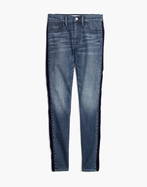"9"" High-Rise Skinny Jeans in Beattie Wash: Velvet Tuxedo Stripe Edition in beattie wash image 4"