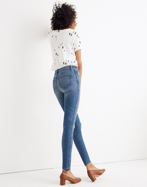 "Petite 10"" High-Rise Skinny Jeans: Drop Step-Hem Edition"