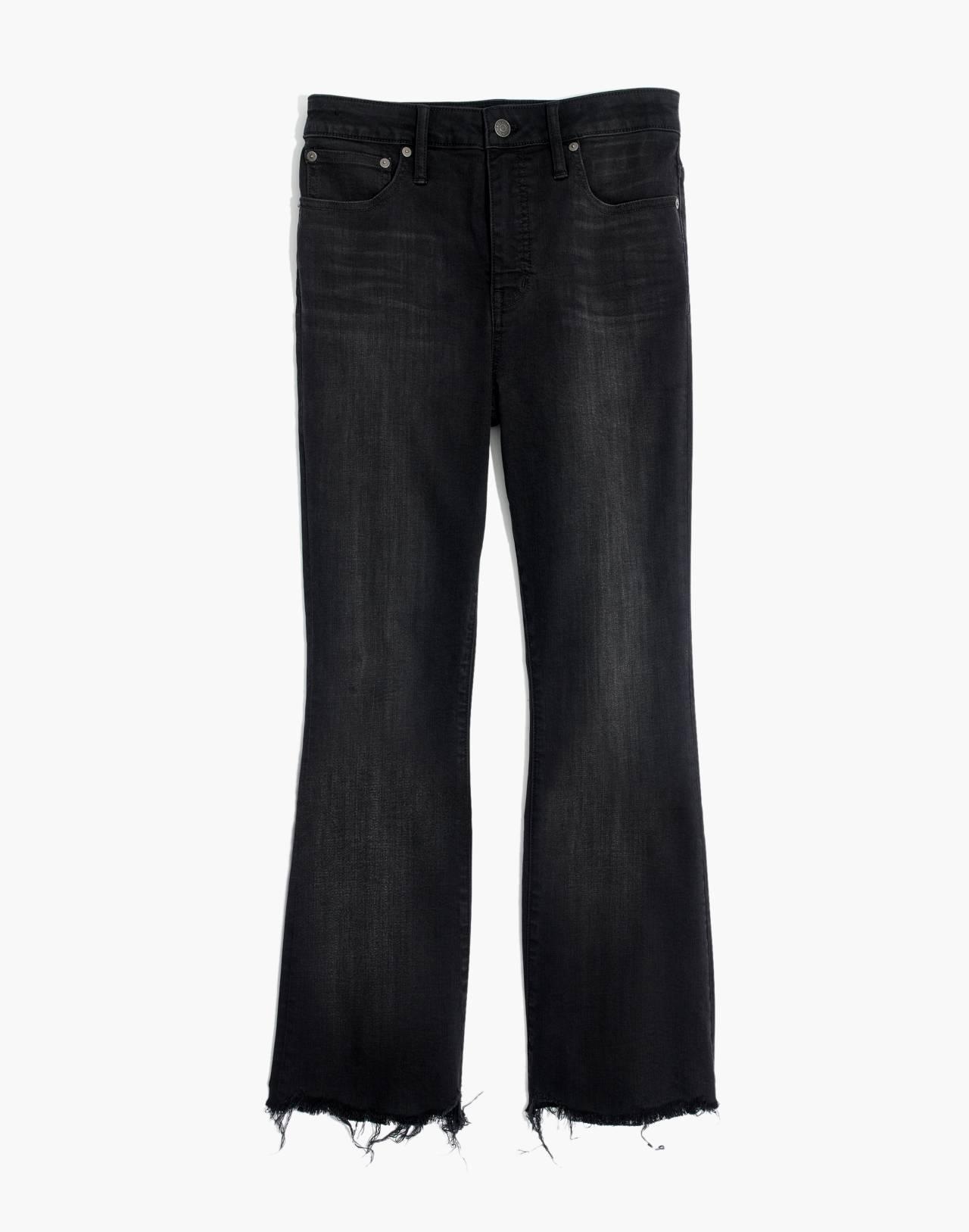 Tall Curvy Cali Demi-Boot Jeans in Berkeley Black: Chewed-Hem Edition in berkeley wash image 4