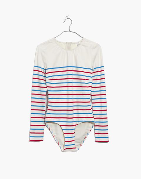 Solid & Striped® Margot One-Piece Swimsuit in Breton Stripe in american breton image 4