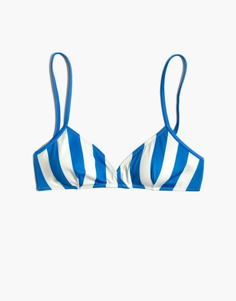 Solid & Striped® Brigitte Bikini Top in Sea Stripe in sea stripe image 4