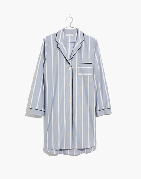 Bedtime Nightshirt in Dark Sea Stripe in dark sea image 4