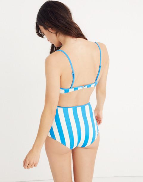 Solid & Striped® Brigitte Bikini Bottom in Sea Stripe in sea stripe image 3