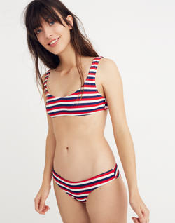 Solid & Striped® Elle Bikini Top in American Stripe
