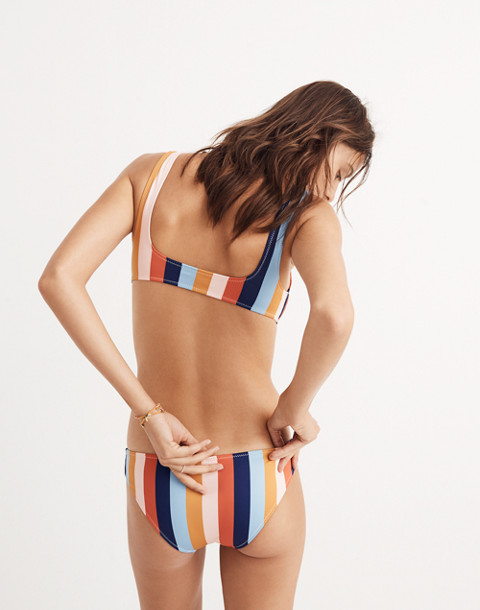 Madewell x Solid & Striped® Elle Bikini Top in Sahara Stripe