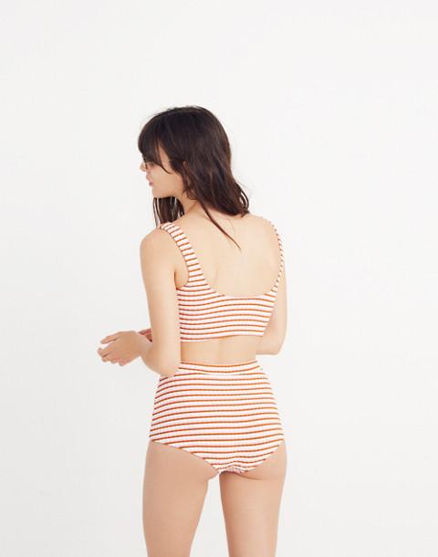 Madewell x Solid & Striped® Jamie Bikini Top in Canyon Stripe in canyon stripe image 2