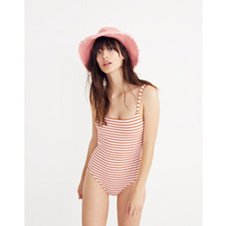 Madewell x Solid & Striped® Nina One-Piece Swimsuit in Canyon Stripe