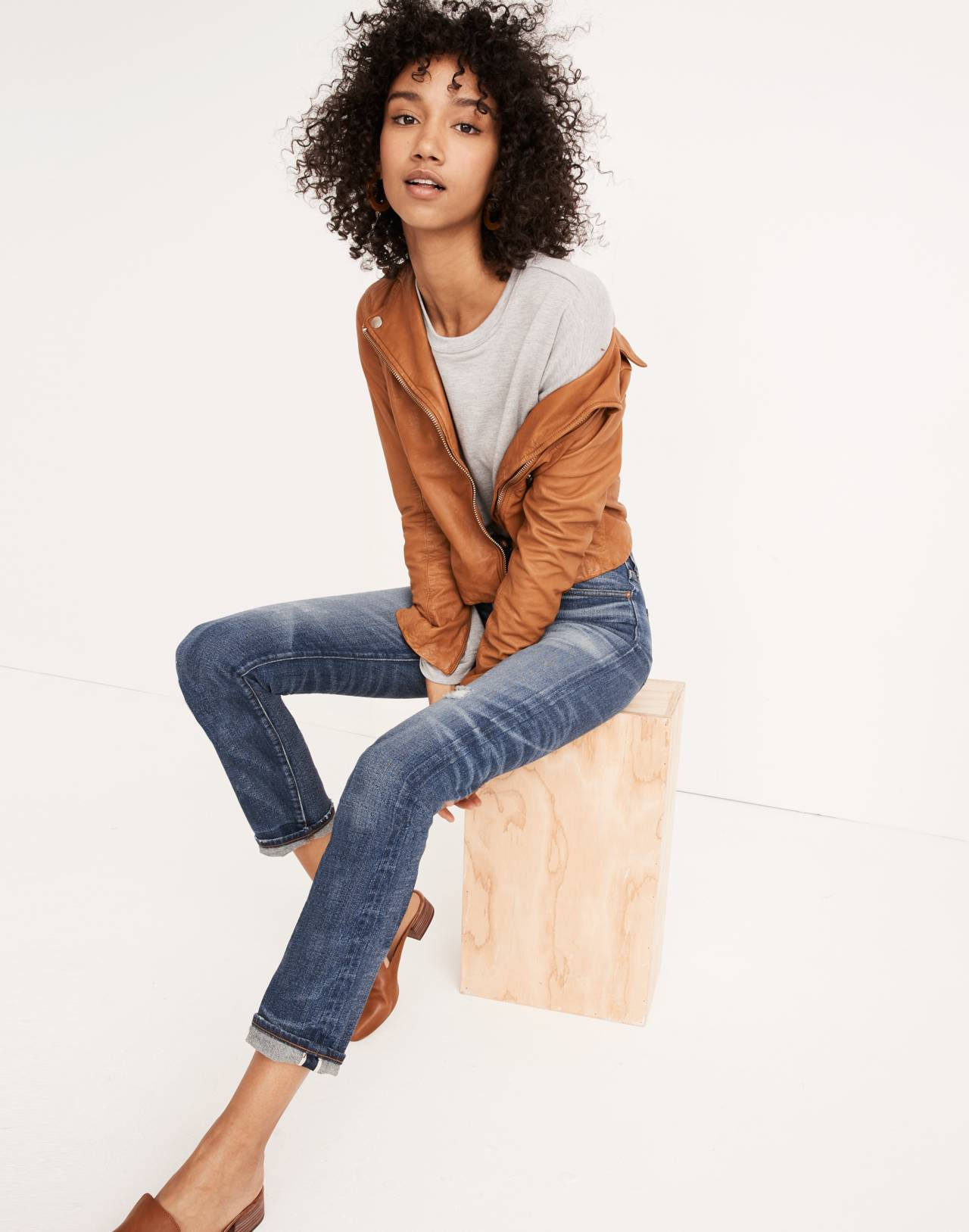 Rivet & Thread Straight Jeans in Buckthorn: Selvedge Edition in buckthorn wash image 1