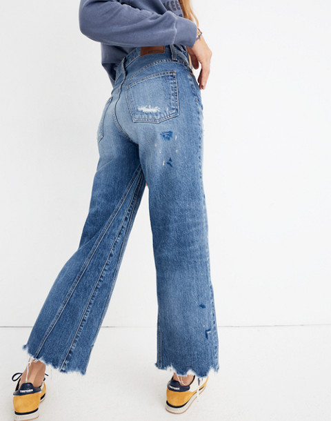 Rivet & Thread Wide-Leg Crop Jeans: Inset Edition in painter wash image 3