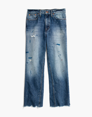 Rivet & Thread Wide-Leg Crop Jeans: Inset Edition in painter wash image 4