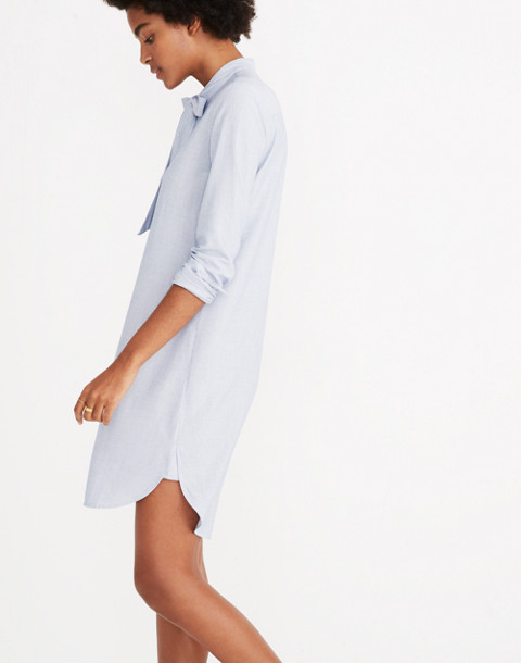 Silverbell Tie-Neck Dress in soft twilight image 2