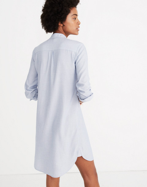Silverbell Tie-Neck Dress in soft twilight image 3