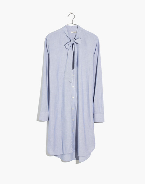Silverbell Tie-Neck Dress in soft twilight image 4