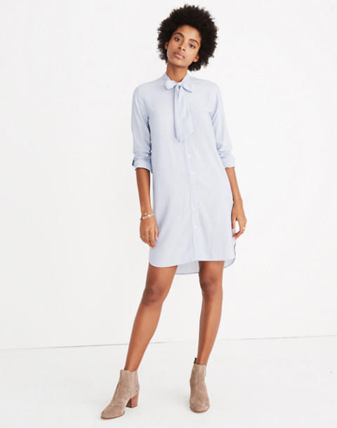 Silverbell Tie-Neck Dress in soft twilight image 1