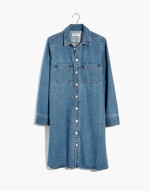 Denim Shirtdress in Albury Wash